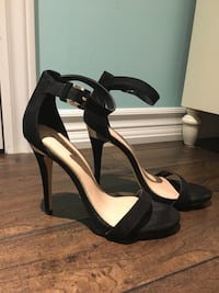 open-toe ankle strap heels from Spring, worn once size 8 women's  Mississauga, L5N 7S6