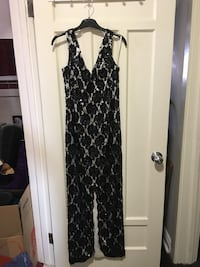 Black Hand Sewn Sequin Gown
