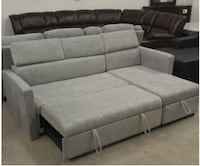 GREY PULL OUT SOFA BED WITH STORAGE BOX FOR 699$ O London