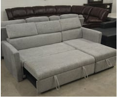GREY PULL OUT SOFA BED WITH STORAGE BOX FOR 699$ O