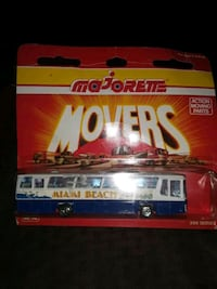 VINTAGE MAJORETTE MIAMI BEACH BUS 7 IN LONG UNOPEN