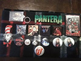 ROCK BUTTONS- PATCH- ROLLING STONES,HENDRIX