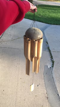 Wooden bamboo wind chime Neenah, 54956