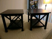 two black wooden armless chairs Alexandria, 22314