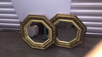 two brown wooden framed mirrors 30 mi