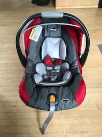baby's black and red car seat carrier Edmonton, T6C 3M4