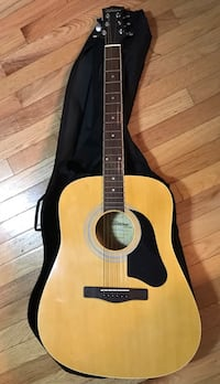 brown and black acoustic guitar Highland, 48356