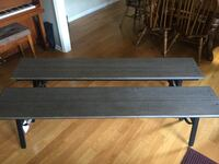 New Mantegna Faux Wood Folding Patio Bench Greenville, 29609