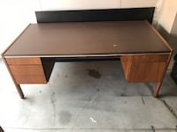 Solid Wood Office Desk With Box/Lockable Drawer! Mississauga