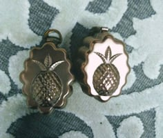 9~Miniature Copper Pineapple Mold. Hangings