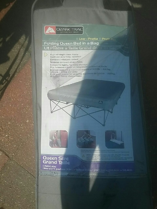 Used Ozark Trail Folding Queen Bed In A Bag For Sale In Edmonton Letgo