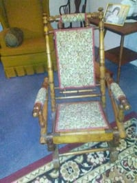 Original Tapestry Wood Rocker... Circa 1900 Manassas, 20110