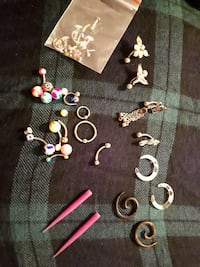 Body jewelry, spacers, captive ball ring, Labrets, Kelowna, V1Y 9Y9