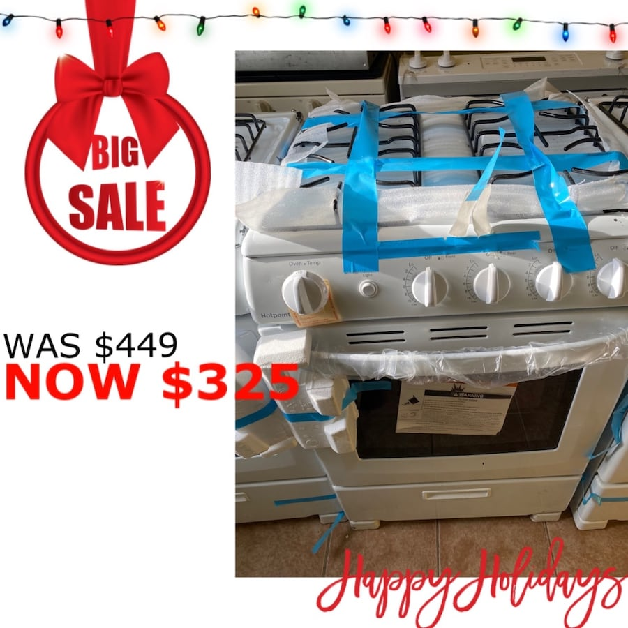"Brand New 24"" Hotpoint 4 Burner Gas Range (Scratch and Dent)"