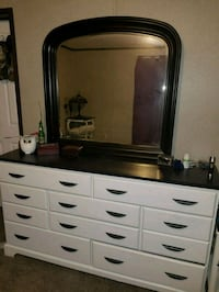 Queen bed frame and dresser w/ mirror  St. Clair County, 48023