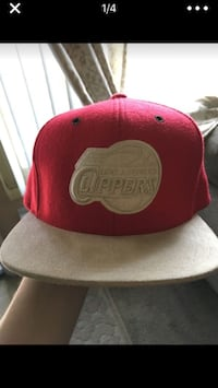 red and gray fitted cap Upland, 91786