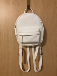 Mini White Backpack