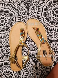 Brown and Green Floral Print Leather Flats Crocker, 65452