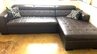 Brown faux leather couch  Seattle, 98126