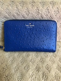 blue leather Michael Kors wristlet Ashburn