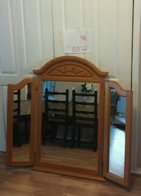 brown wooden cabinet with mirror Laval, H7W 3C5