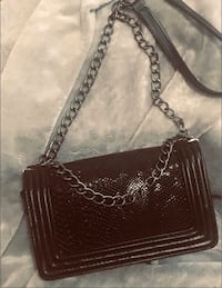 Bag with Chain Shoulder Strap in black
