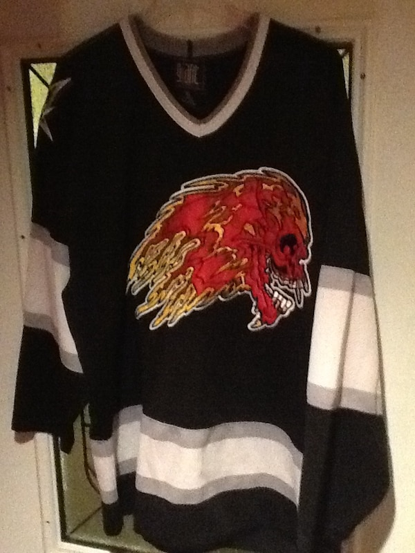 Used Mighty Metallica Flaming Skull Hockey Jersey OBO for sale in ... 9989f7101a8