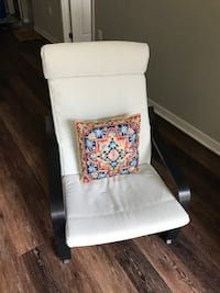White and red floral fabric padded chair Arlington, 22201