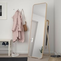 Hot Pick! Natural Design Standing Mirror