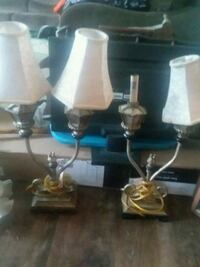 two black and white table lamps Christiana, 37037