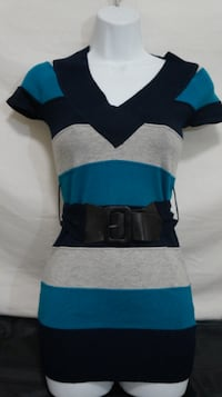 NWT Sz. Small V-Neck Sweater Pullover w/ Belt St. Cloud