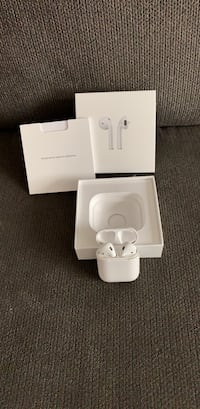 White apple airpods with box 288 mi