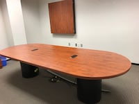 brown wooden desk with black rolling chair Rockville, 20850