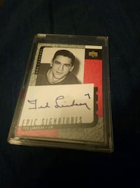 Ted Lindsay Epic Signatures Red Wings card Edmonton, T6H 5G1