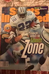 Emmitt Smith cover sports illustrated January 22,1996 Beltsville, 20705