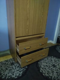 brown wooden 3-drawer chest 786 km