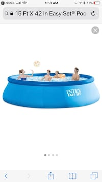 Blue intex easy set inflatable pool screenshot. this pool has never been used and still in the original boxes