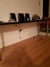 black and white wooden TV stand Montréal, H2P 2C5