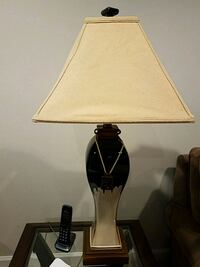 Navy and Beige Ceramic 3' Table Lamp  Winchester, 22602