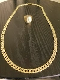 18-karat gold-plated necklace and Mercedes ring  Salem, 97301