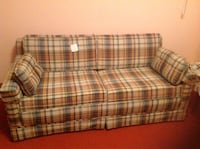Brown and white plaid fabric sofa Scranton, 18504