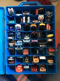 53 Assorted Hot wheels Dinky Car Toys W/ Carrying Case London, N6G 5R6