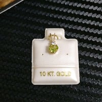 10k Gold Pendant with Genuine Peridot and Moonston Toronto, M2H