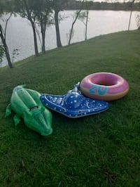 blue and green inflatable raft Manvel, 77578