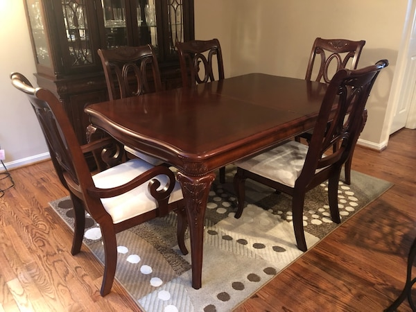 Terrific Cherry Wood Dining Table Chairs Caraccident5 Cool Chair Designs And Ideas Caraccident5Info