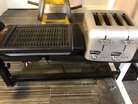 Delonghi 4 slice toaster and t fal indoor grill. Sold as a pair for 49 or separately at $30 each Oakville, L6J