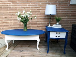 ROUND COFFEE TABLE &VINTAGE SIDE TABLE!!!!
