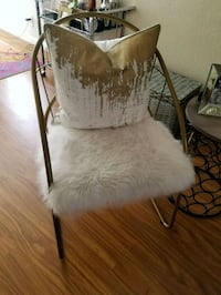 Gold designer fur chair San Jose, 95139