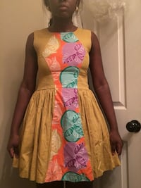 Traditional yellow floral dress