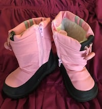 Pink and white Eddie Marc Kids boots size 8 Wappinger, 12603
